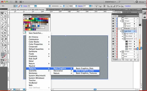 how to open swatch indesign library
