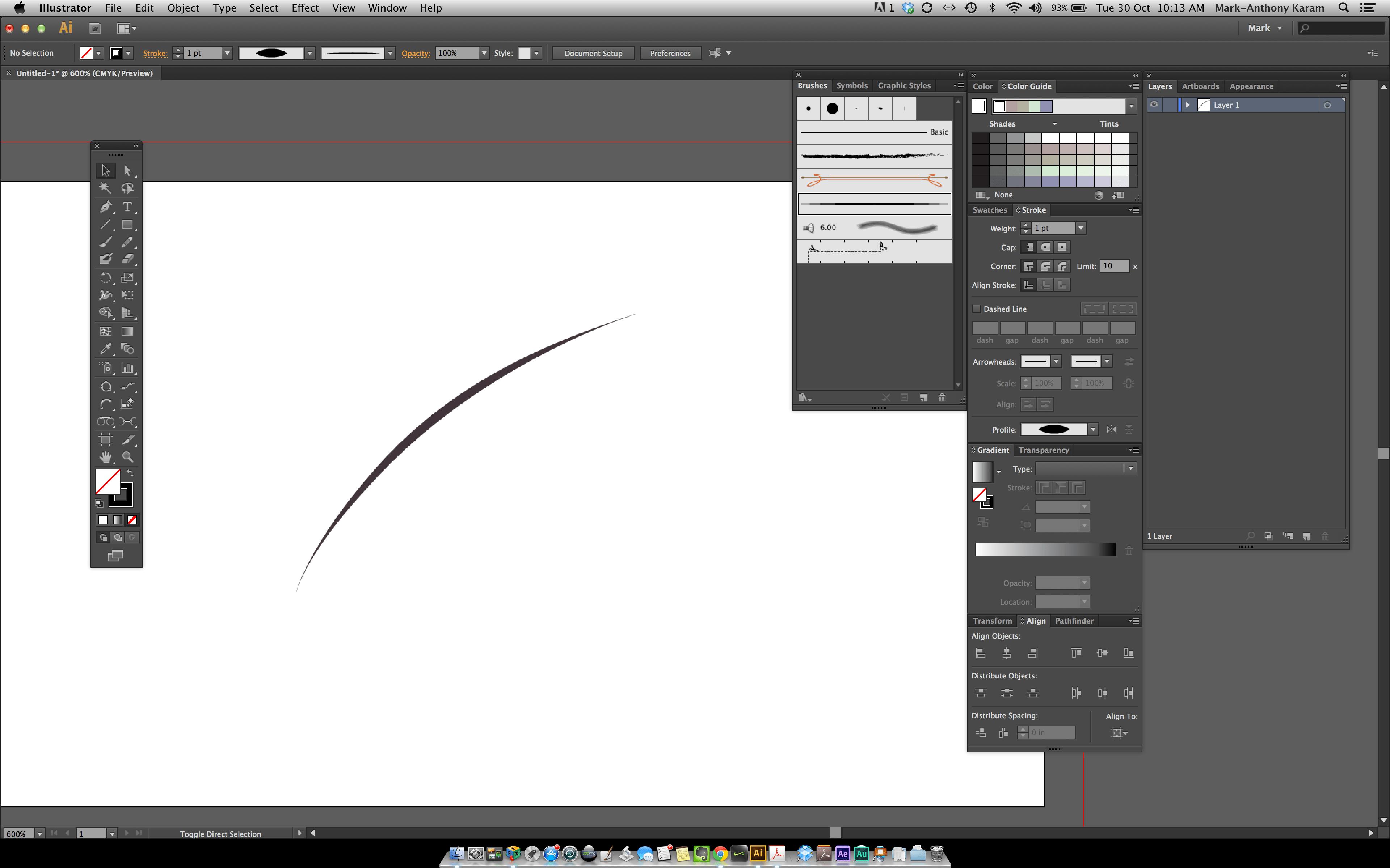 Make A Paint Brush Stroke In Illustrator