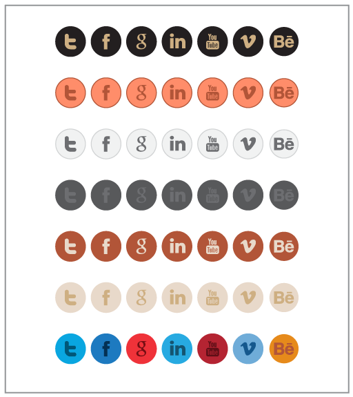Retina Display Social Icon Set