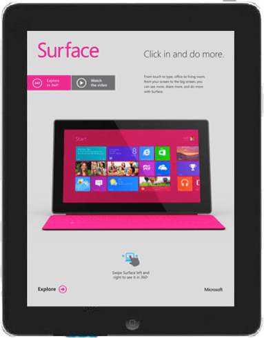 Adobe Digital Publishing Suite: Microsoft Surface & Windows 8 Wired Magazine Ads
