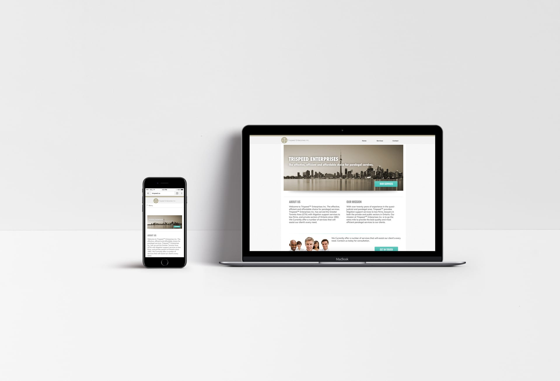 Trispeed Inc Web Design