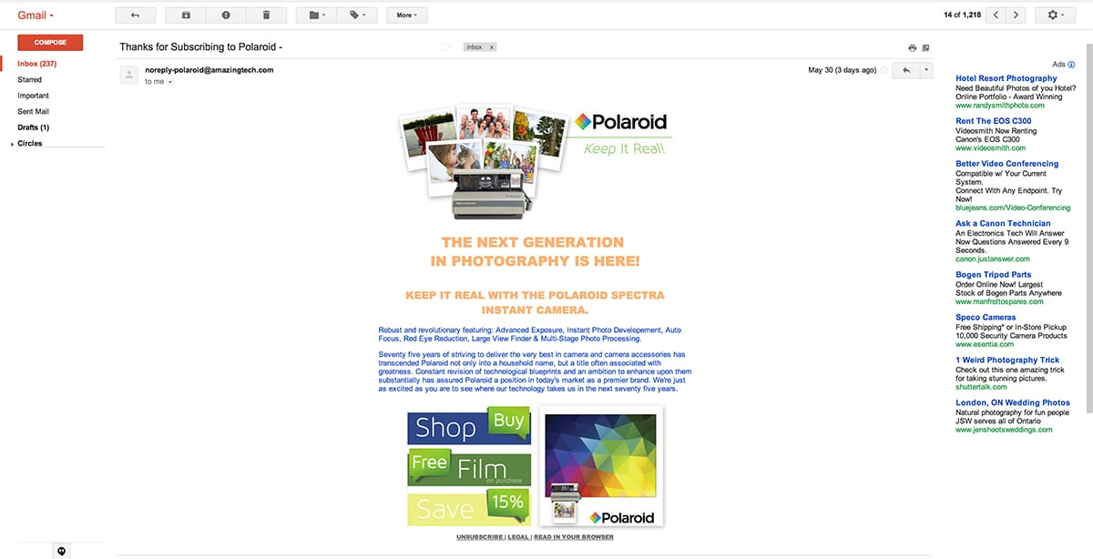 Polaroid Camera – Alessandro Curro