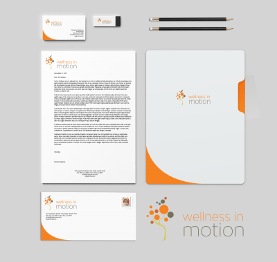 Wellness In Motion Branding & Stationery Design
