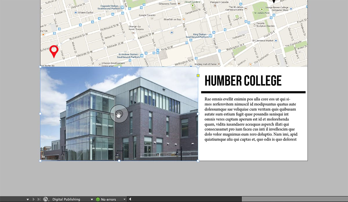 digital publishing suite humber college