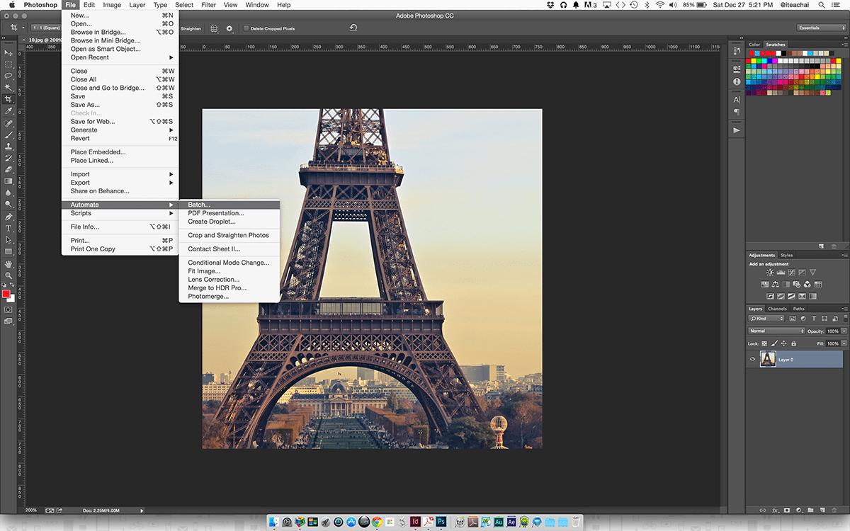 Photoshop Batch Automation