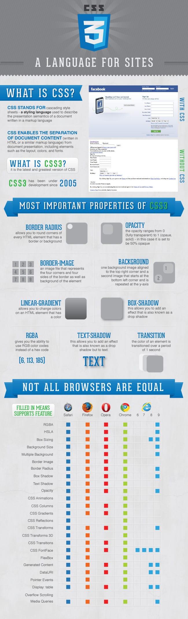 CSS3 infographic