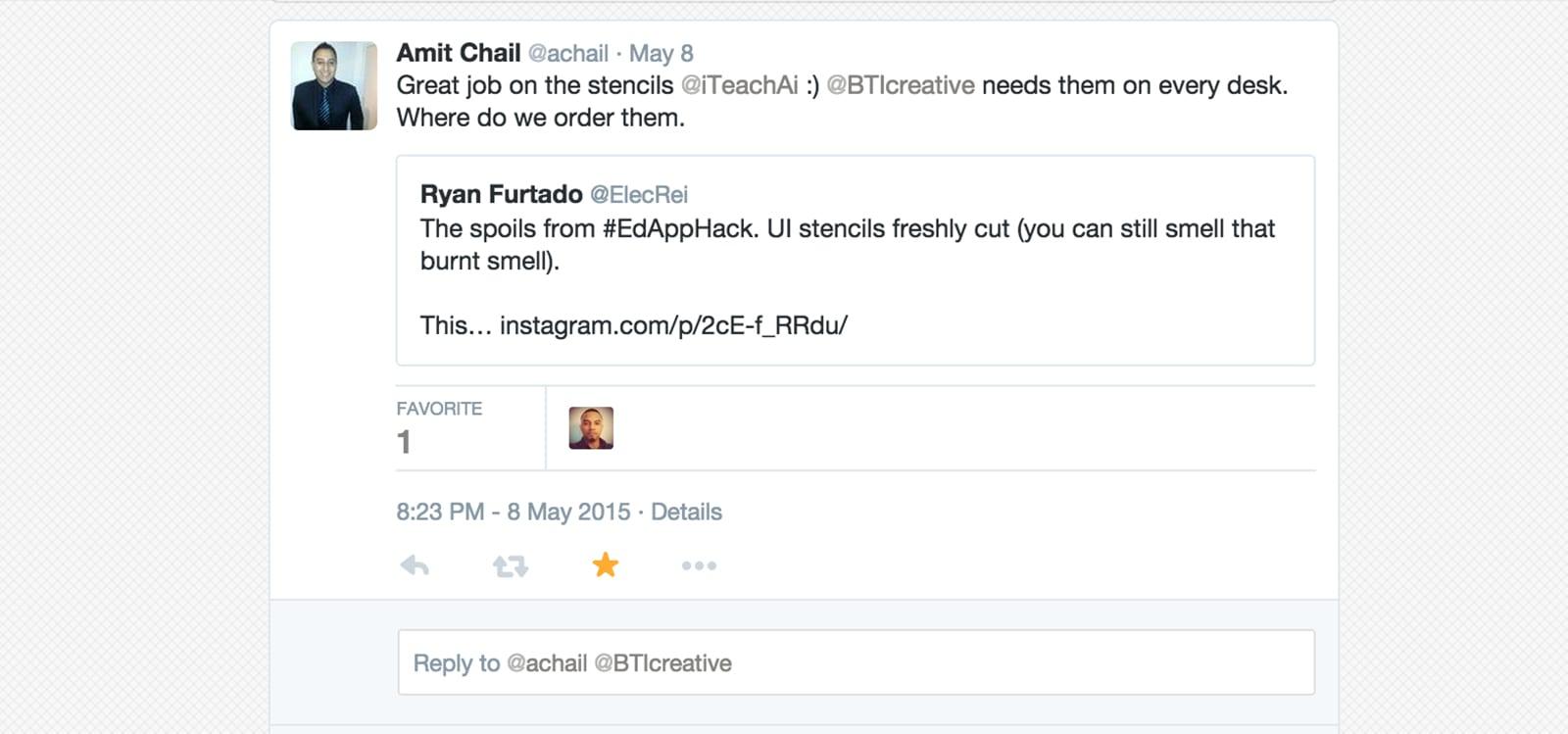 user interface stencil twitter
