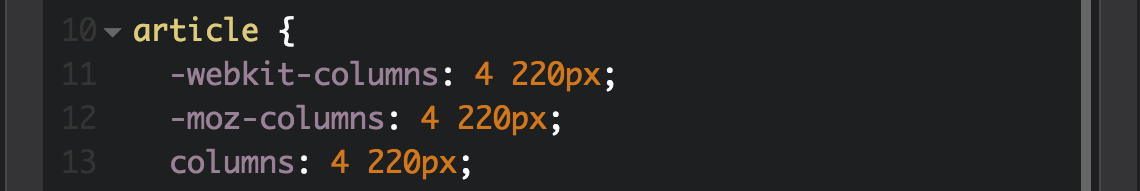 declare column width