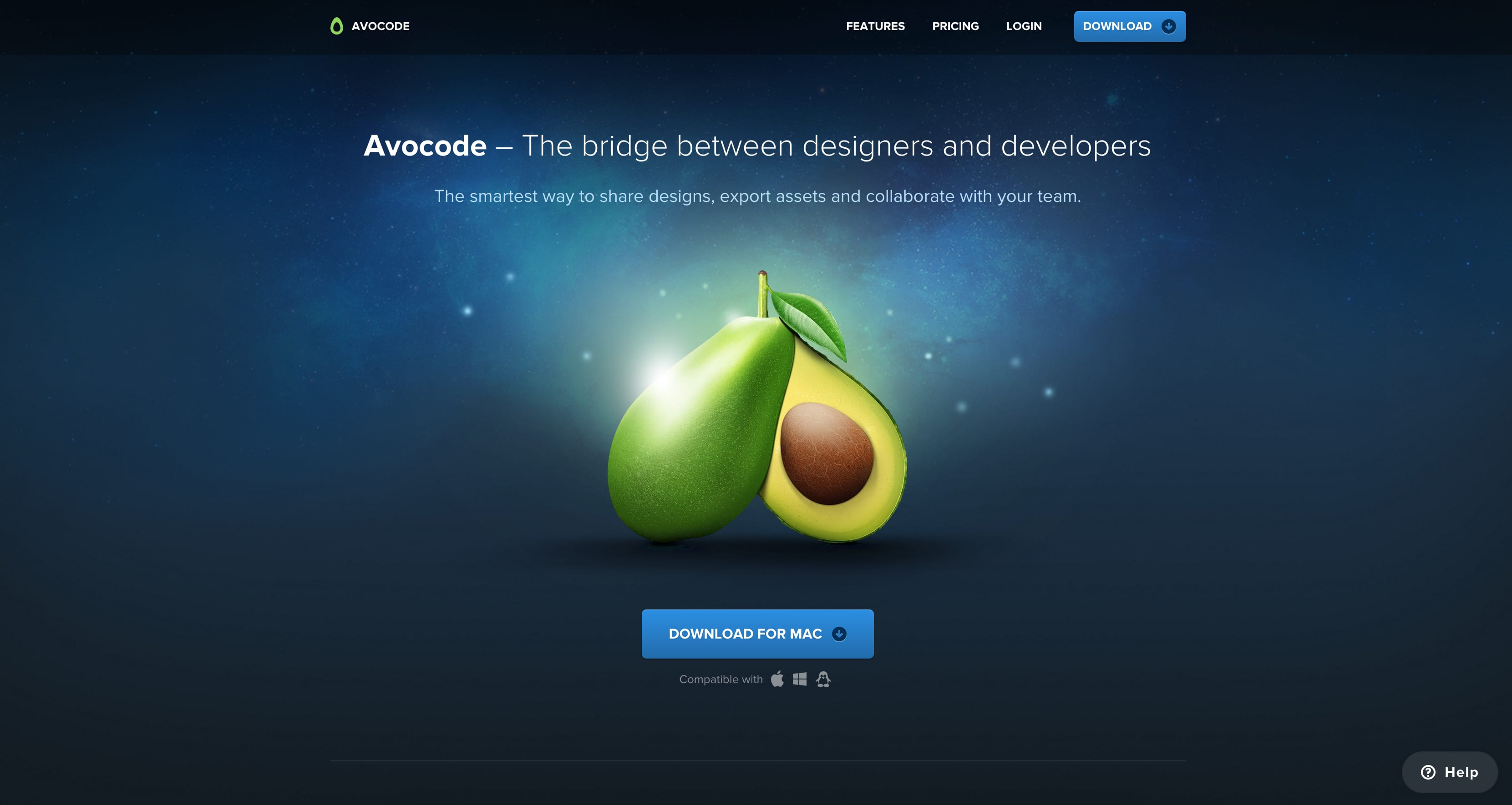 Avocode web design tools