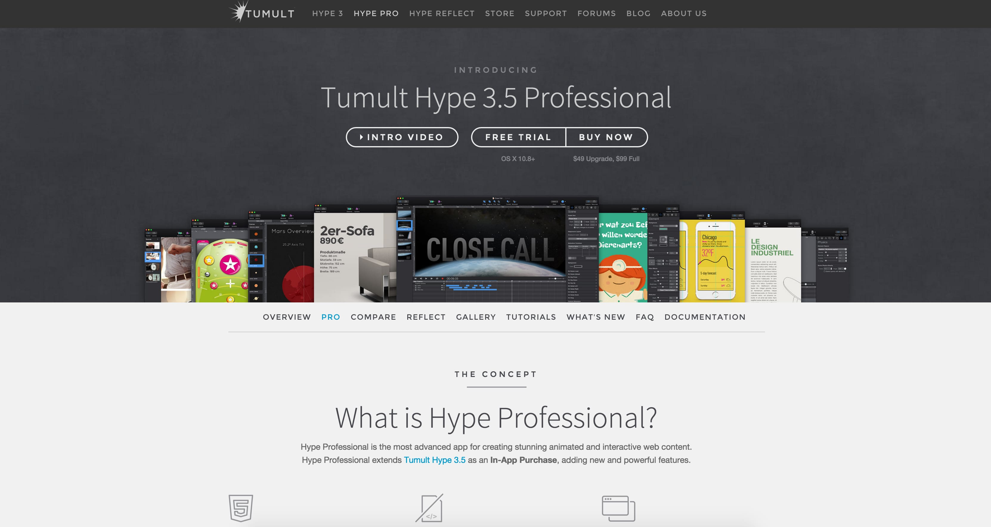 Hype web design tools