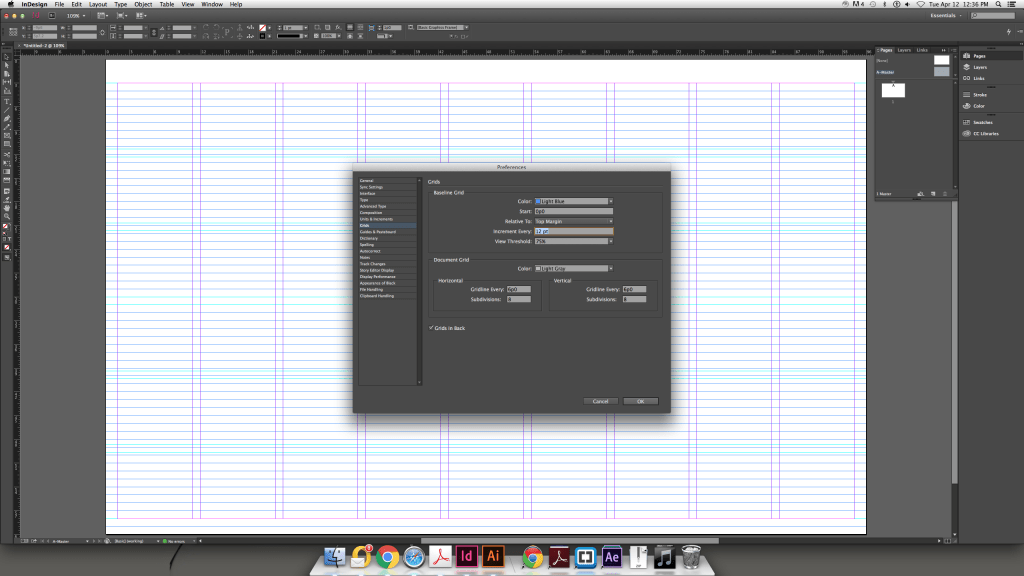 Modular Grid InDesign Preferences