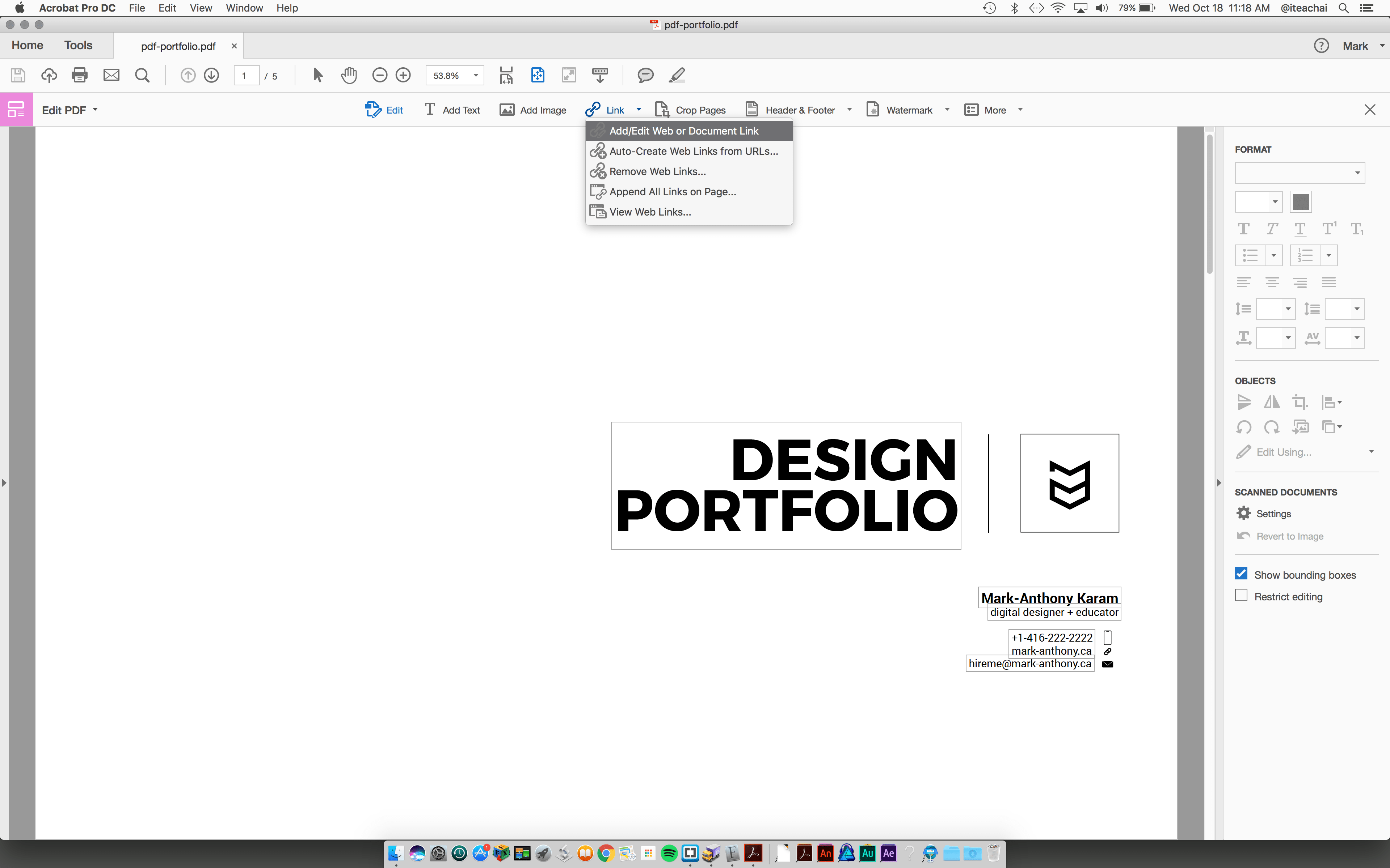 Create a pdf portfolio using adobe illustrator mark anthony adding a url to acrobat pdf buycottarizona
