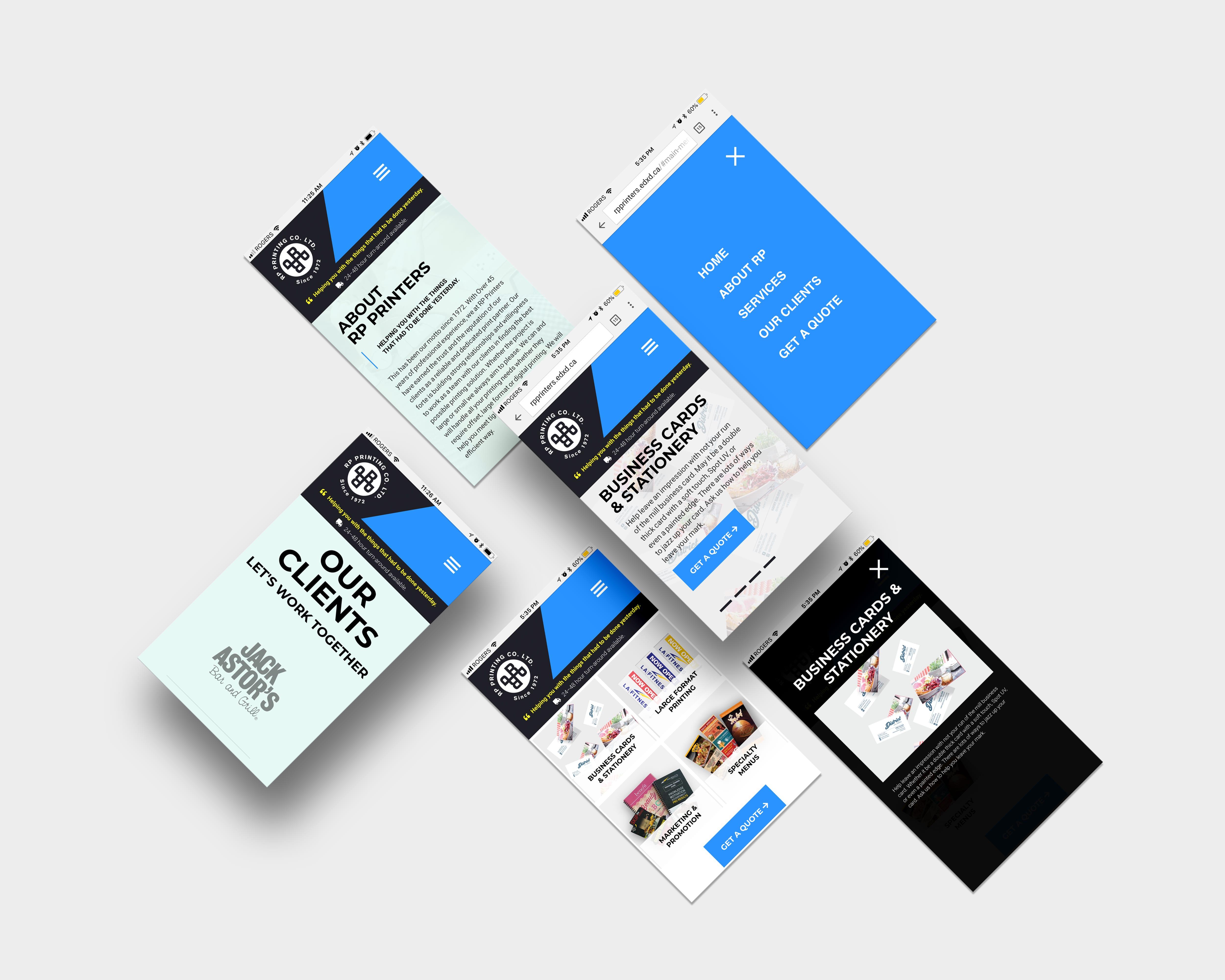 RP Printers Responsive Web Design
