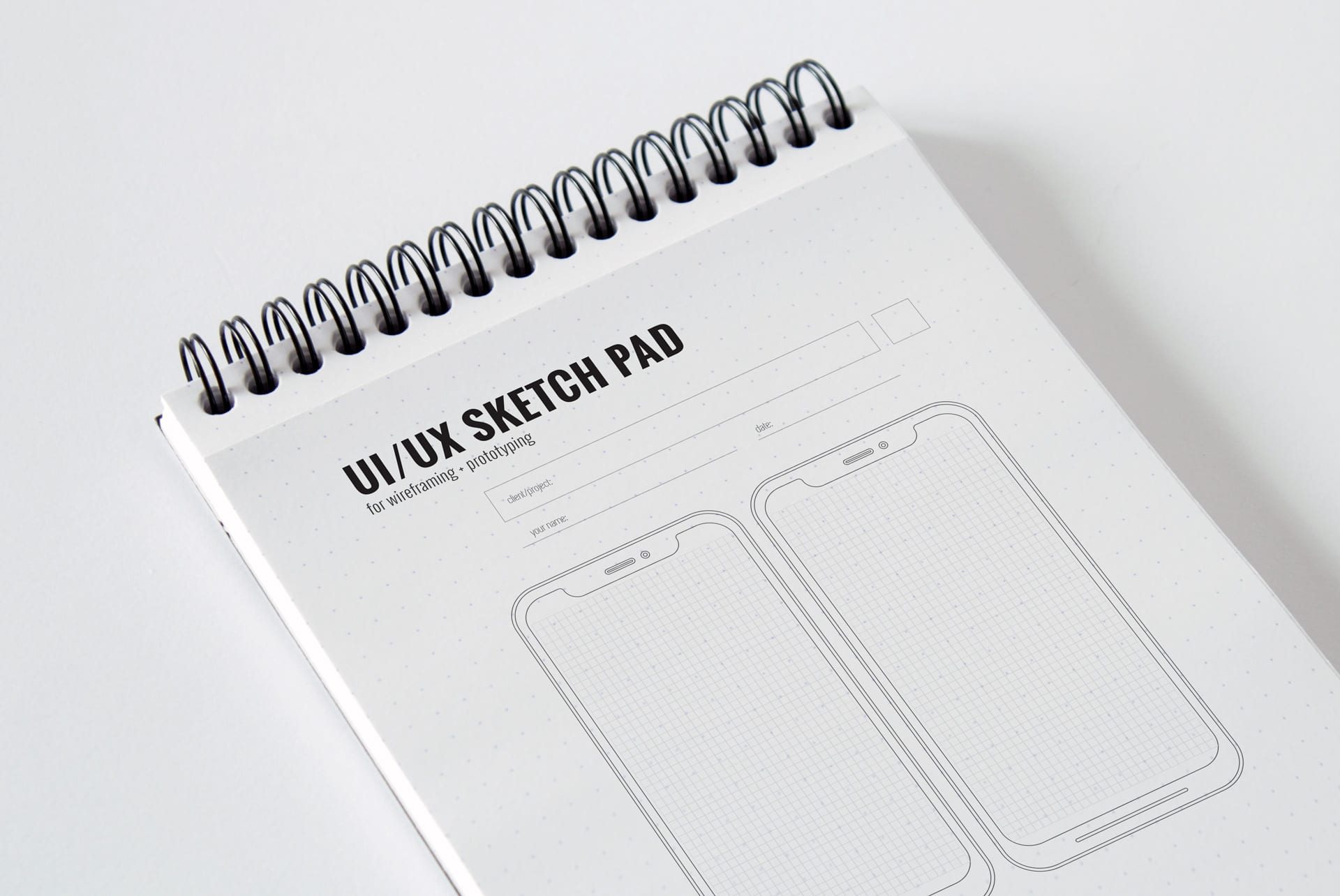 ux sketch pad sheet