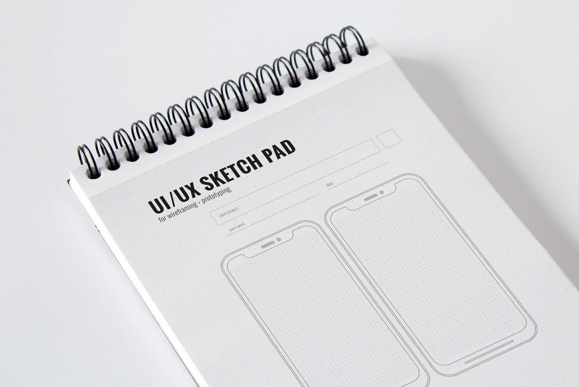 ux sketch pad sheet
